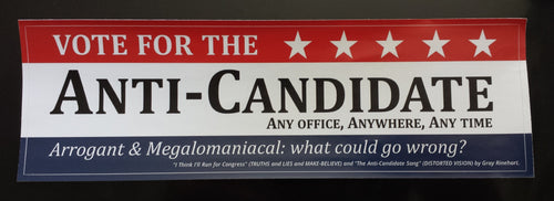 Anti-Candidate Bumper Sticker