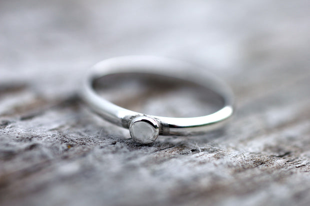 Sterling Silver Small Pebble Ring