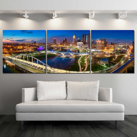 Panoramic View of Columbus Skyline