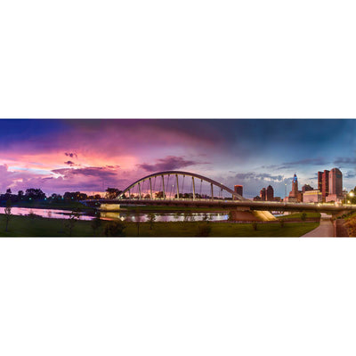 Panoramic View of Main Street Bridge Sunset
