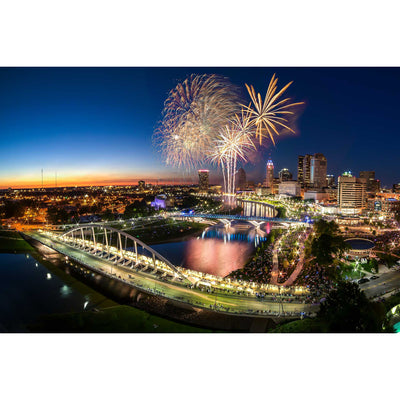 Red White & Boom over Columbus Skyline