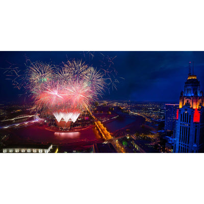 LeVeque Tower Red White & Boom