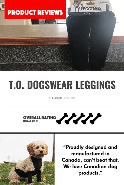 Daily Dogs Reviews the Knit Leggings! 5 Bones!