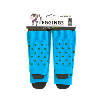 KNIT LEGGINGS | Blue + Green Polka Dot - T.O. Dogswear