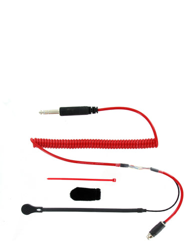 HELMET KIT - MINI MIC FLEX BOOM 3 CONDUCTOR COIL CORD