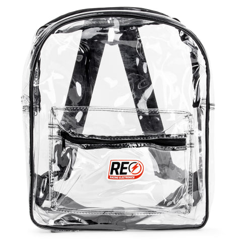BACKPACK - CLEAR WITH BLACK TRIM