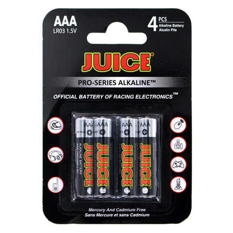 BATTERY - JUICE AAA ALKALINE 4 PACK