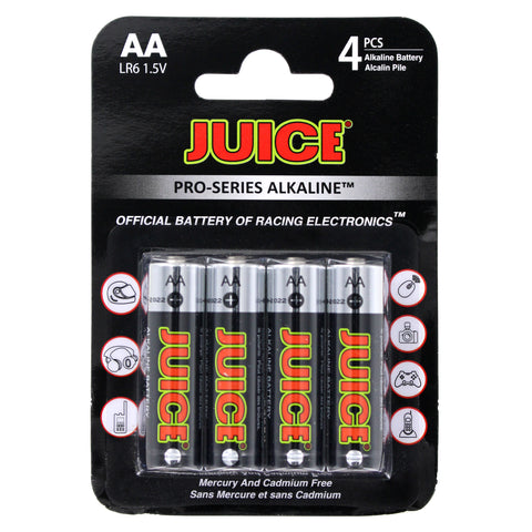 BATTERY - JUICE AA ALKALINE 4 PACK