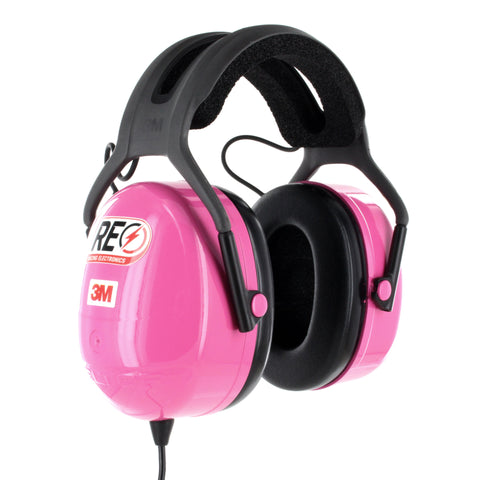 HEADPHONE - CLEAR - STEREO OVER THE HEAD, PINK