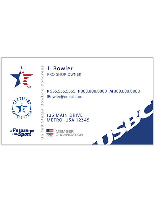 Usbc Coaching Business Cards 500 Allow 2 3 Weeks For