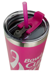 Bowl for the Cure Stainless Steel Tumbler with Straw
