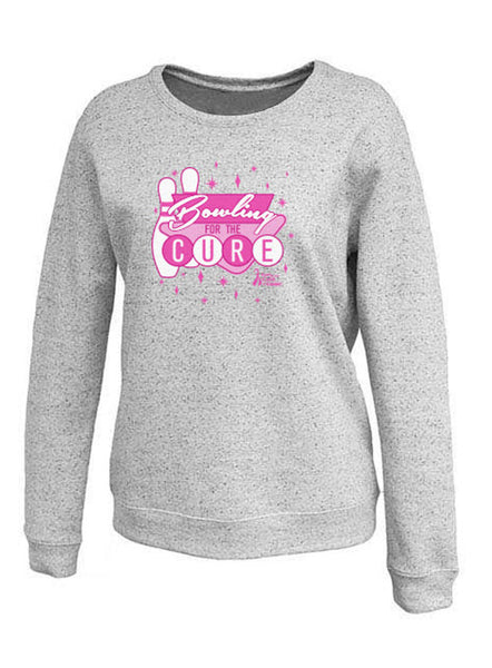 Bowl for the Cure Ladies Fleck Crewneck