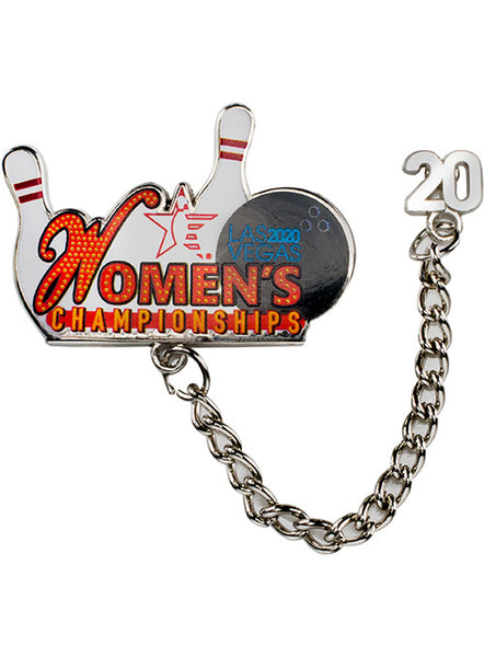2020 Women's Championships Chain Hat Pin