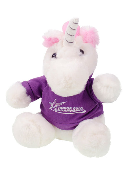 Junior Gold Championships Plush Unicorn