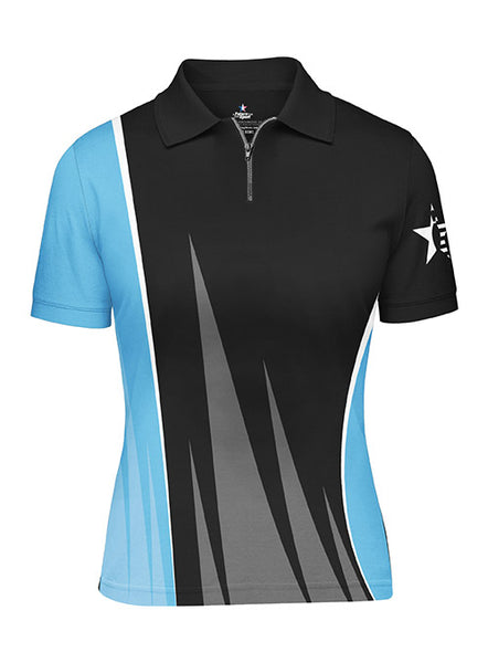 Ladies Pin Star Sublimated Performance Edge Design Polo