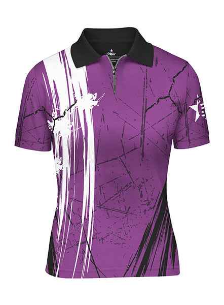 Ladies Pin Star Sublimated Performance Crackle  Design Polo