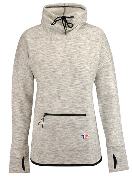 Ladies Performance Heather Cowl Neck Pullover