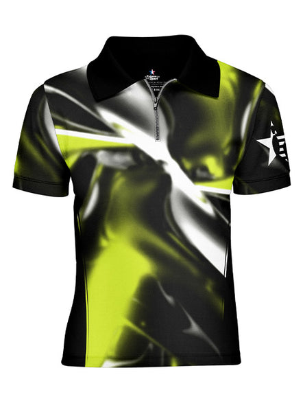 Youth Pin Star Sublimated Performance Twisted Design Polo
