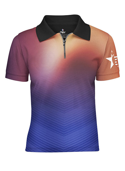 Youth Pin Star Sublimated Performance Glow Design Polo