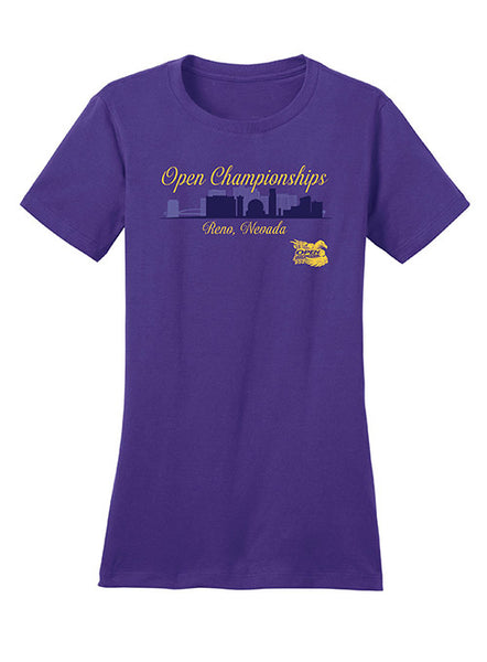 Ladies 2020 Open Championships Purple T-Shirt
