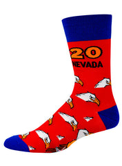Red and Blue Open Championships 2020 Socks