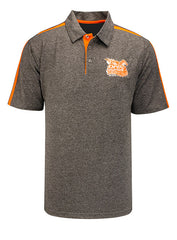 2020 Open Championships Heathered Grey and Orange Polo