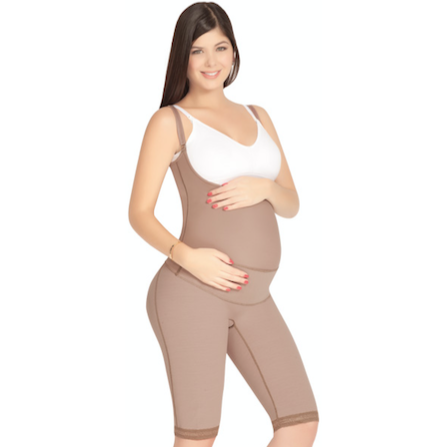 Maternal Body Garment to the Knee, Braless with Pregnancy Support | Fajas D' Prada | Allure Shops™