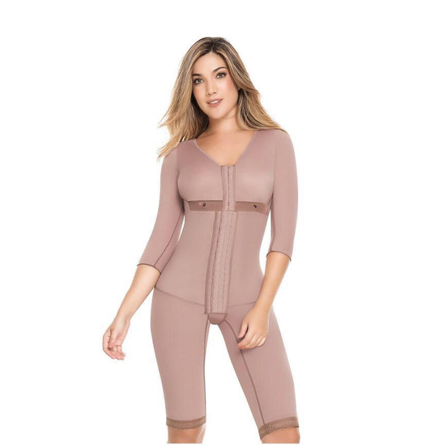 ce28e3f8cc Medicated Full Body Shaper With Sleeves - For Healing After Surgery ...