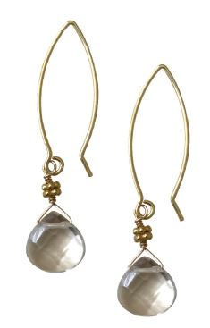 Rock Crystal Hook Earrings