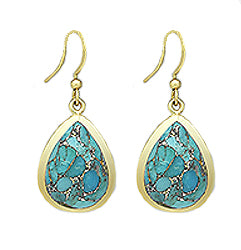 Erin Earrings in Turquoise