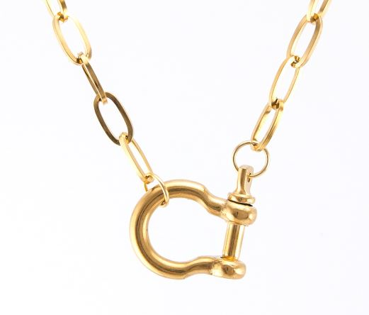 ADMK Front Horseshoe Clasp Necklace