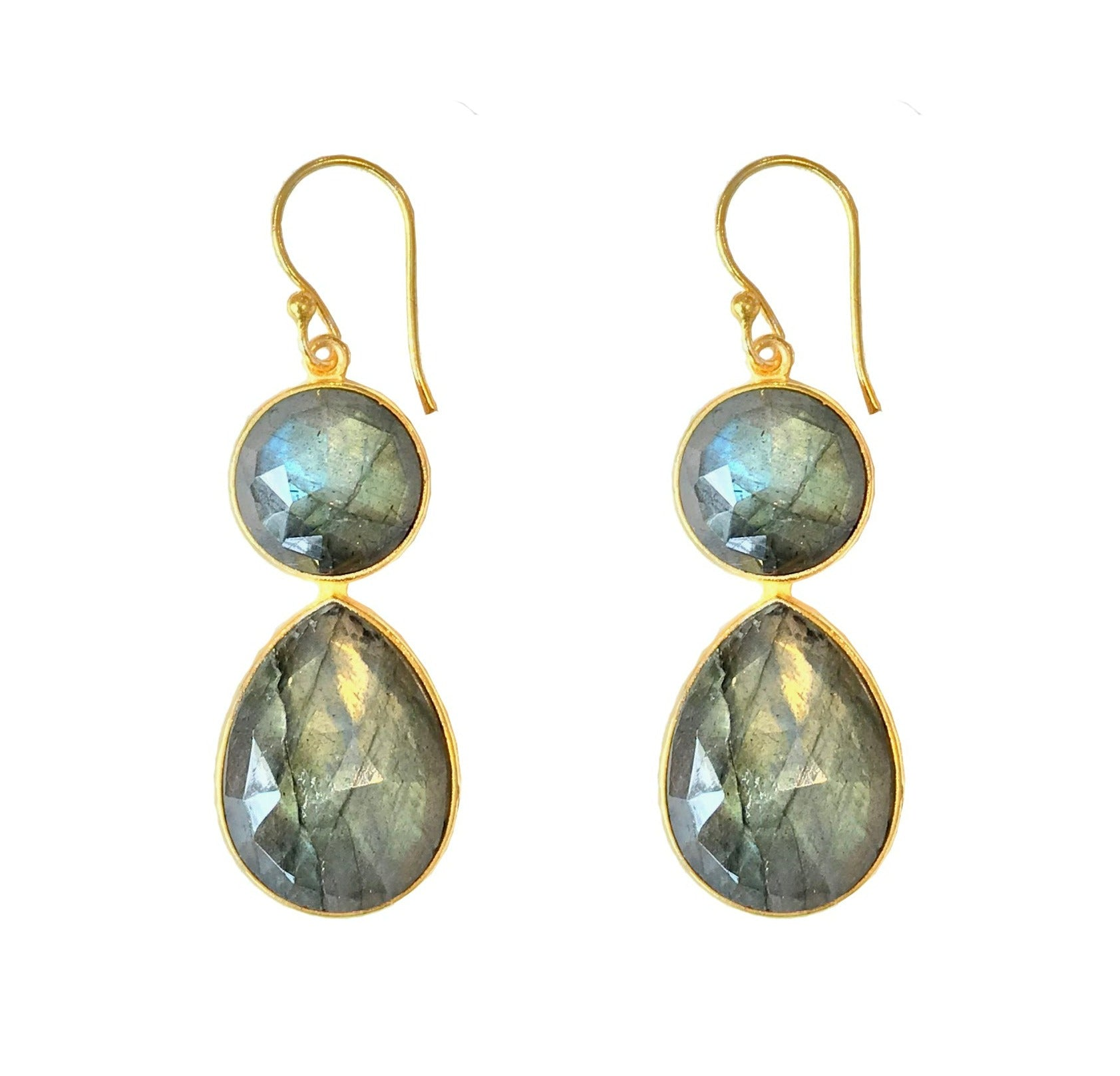 Kayden Earrings in Labradorite