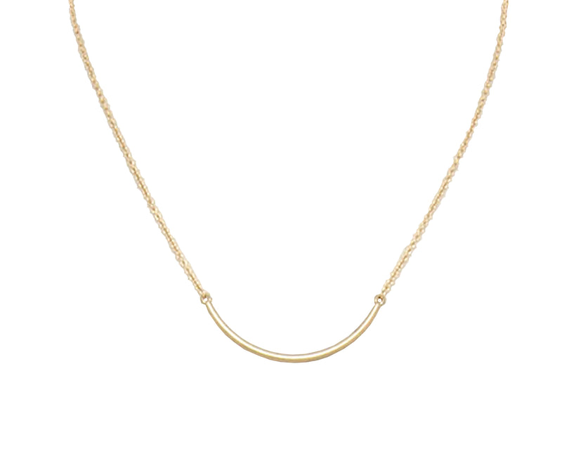 Millie and Main Curved Bar Necklace