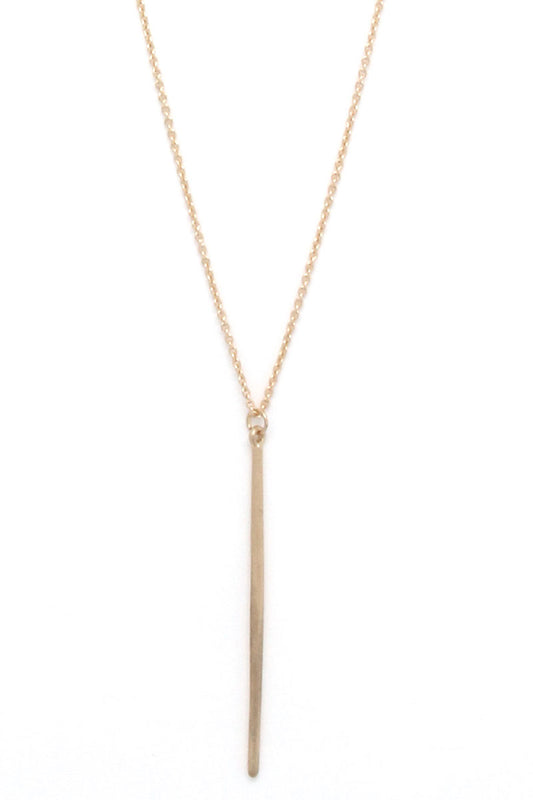 Millie and Main Long Bar Necklace