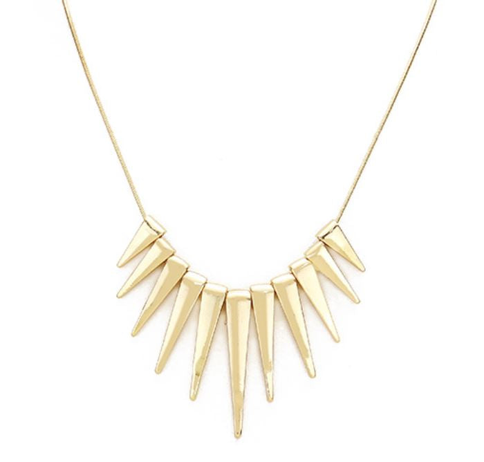 Spike Necklace in Gold