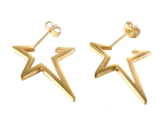 Star Gold Earrings