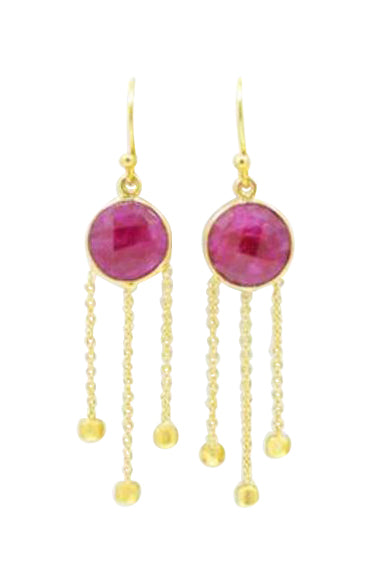 LuLu Earrings in Ruby