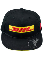 DHL Flat Bill Hat AUTOGRAPHED BY #28