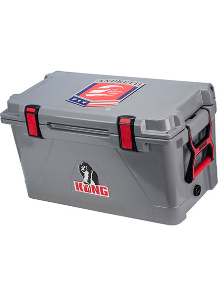 Andretti branded Kong Cooler 50 Qt- Grey