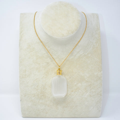 1New - Perfume Amulet Necklace (Empty) - Square