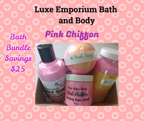 Pink Chiffon Bath Bundle