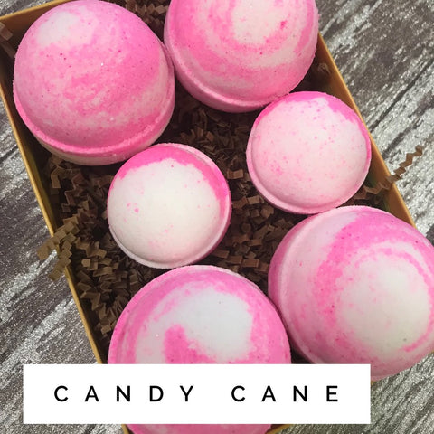 Candy Cane - Holiday Bath Bomb