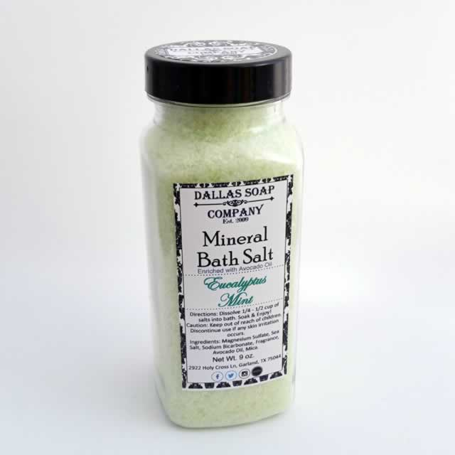 Eucalyptus Mint Mineral Bath Salt - 9 oz