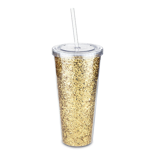Glam Double Walled Glitter Tumbler by Blush (24 oz)