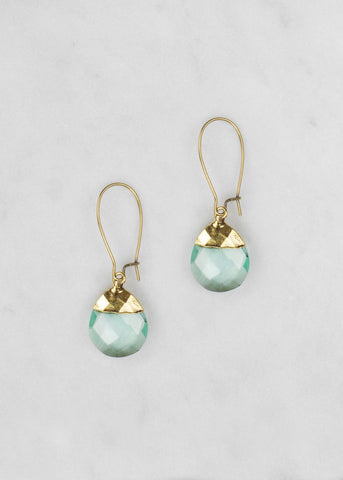 1New -Lisette in Clear Water Blue earrings from Grandmother's Buttons