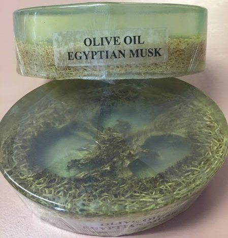 Olive Oil Egyptian Musk Soap with Loofa