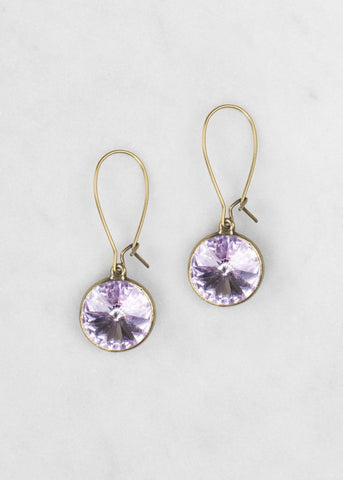 1New - Violet Swarovski Earrings from Grandmother's Buttons