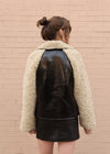 Patent Leather Faux Fur Jacket Back