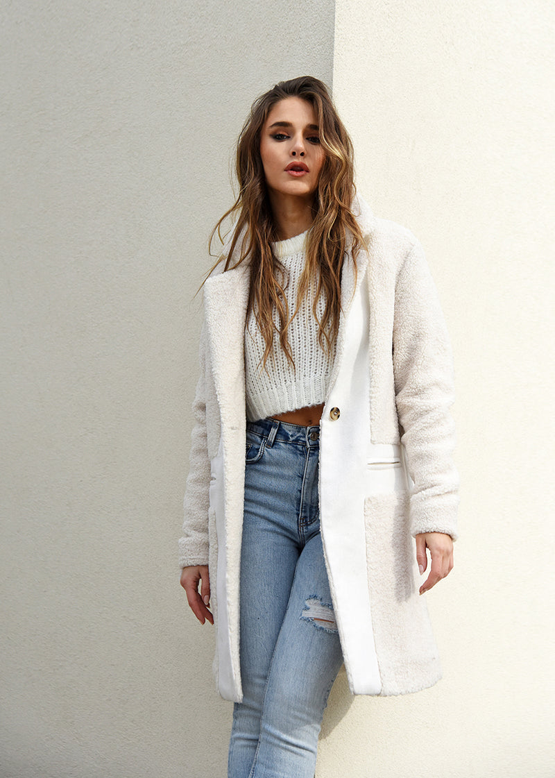 Teddy Wool Coat Streetstyle