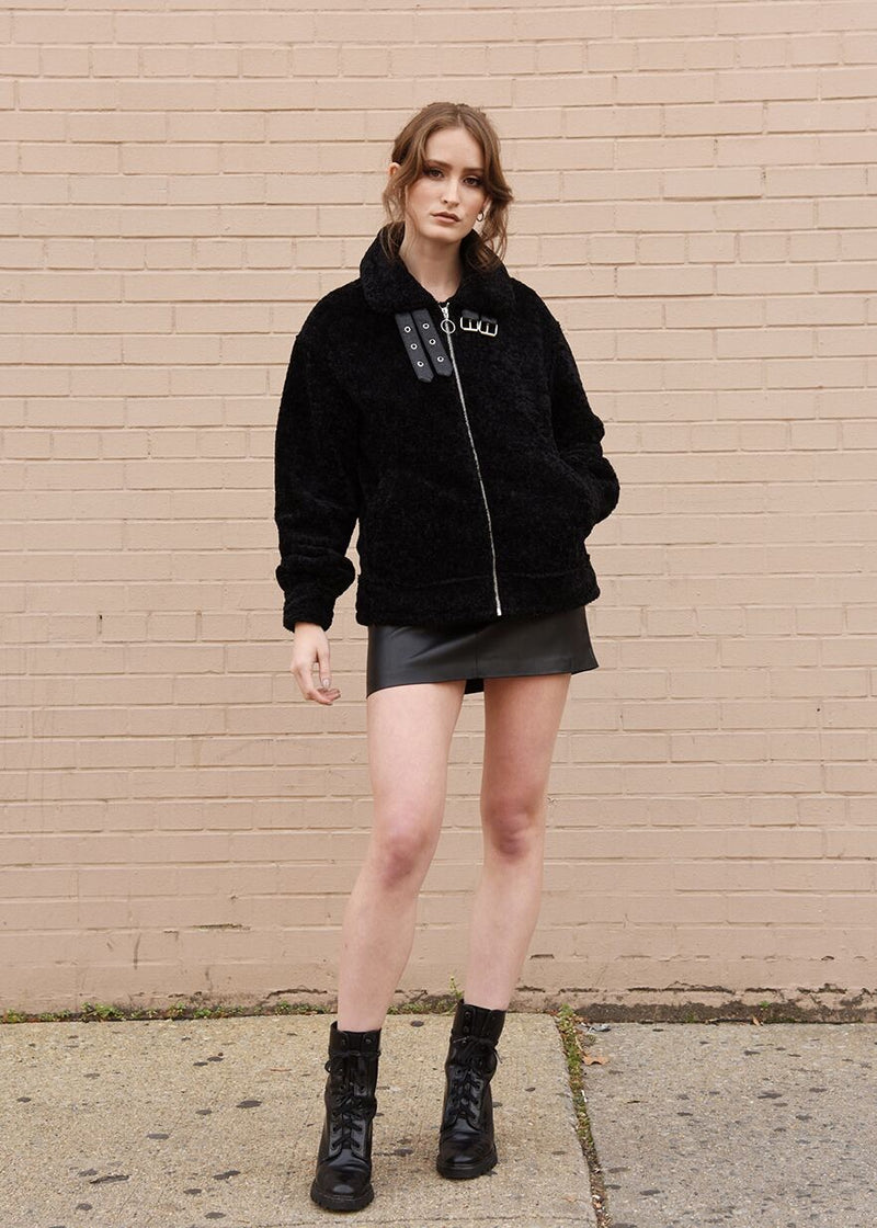 Oversized Faux Shearling Jacket